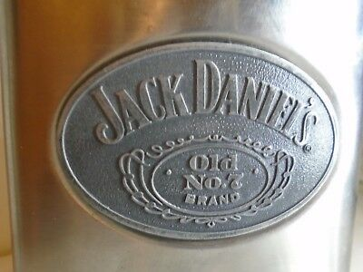 Jack Daniels Old No. 7  Whiskey 4 Oz. Stainless Steel Flask  +extra tin box