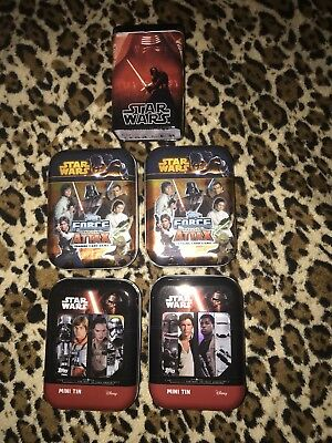 TOPPS COLLECTOR TIN LOTE Mini Latas D Star Wars Vacias Y Una Exclusiva Carrefour