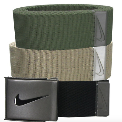 Nike Golf Men's 3 in 1 Web Pack Belt One Size fits All Black, Green,Tan New