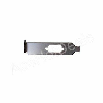 Low profile Bracket for Serial DB9 RS232 9pin 9p Com Port host case Cable cord