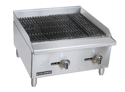 Commercial Kitchen Countertop Natural Gas Char-Broiler 24""