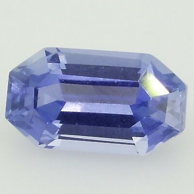emerald cut blue sapphire unheated 0.61ct Genuine Loose Gemstones NR
