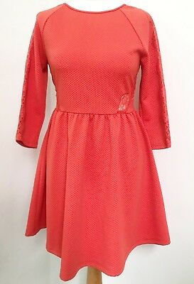 Ladies ASOS PETITE Orange Dress with lace panel detail 12. New with tags. Summer