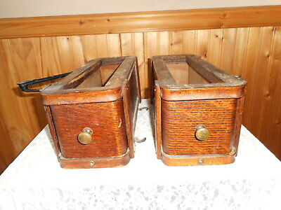 2 Vintage  Singer Treadle Sewing Machine Drawers With Frames