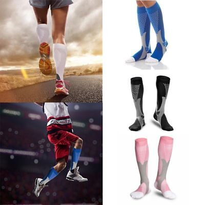 2 Pairs 20-30 mmhg Women & Men Sports Knee High Compression Socks for Running US