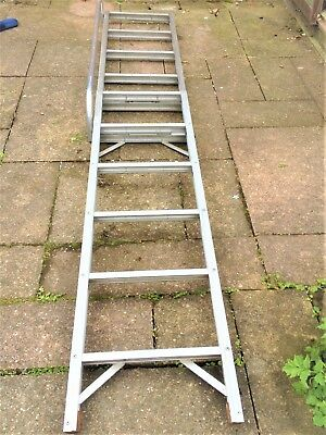 loft ladder - 2-section, 2.5 metres. Aluminium. With handrail
