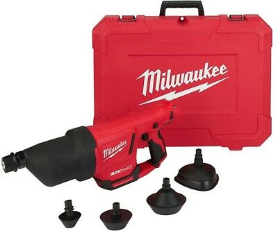 Milwaukee Drain Cleaning Machine Airsnake M12 12V L-Ion Attachments Tool Only