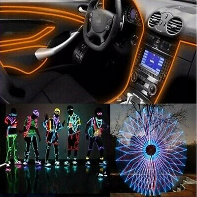 Yees ! 10m Led Flexible Soft Tube Wire Neon Glow Car Rope Strip Light Decor 12V