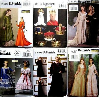 BUTTERICK SEWING PATTERN Adult Child Historic Costume Accessories ...