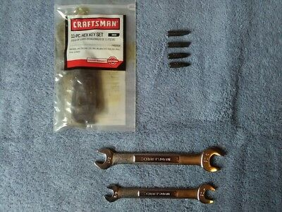 Craftsman Open-End Wrench [9/16-1/2 + 7/16-3/8] and 11-Piece Hex Key Set