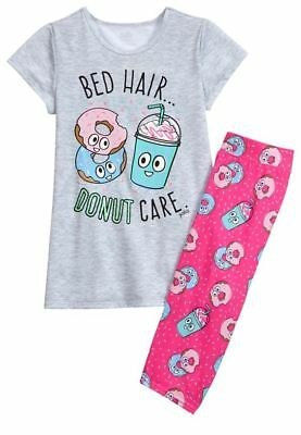 75f4317395 NWT Justice Bed Hair Donut Care Pink Pajamas PJ s 2PC Set - Girls 8