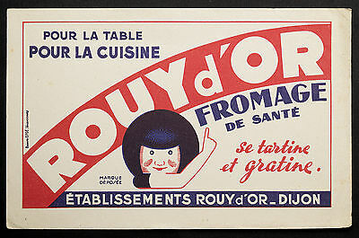 Buvard Publicitaire Ancien : Fromage Rouy D'or - Dijon