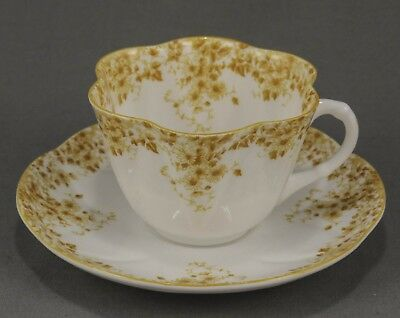 "Shelley Dainty ""yellow"" Cup & Saucer In  Excellent Condition #051/y"