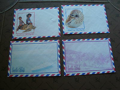 new caledonia 4 envelopes without stamp (cy15) new caledonia
