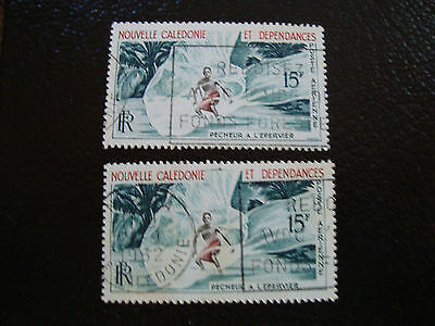 new caledonia stamp yvert and tellier air n° 67 x2 obl (A4)new caledonia