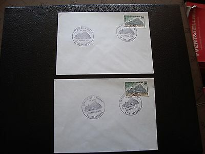 FRANCE - 2 envelopes 1st day 22/1/1977 (council of europe) (cy94) french