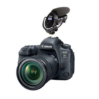 New Canon Eos 6D Mark Ii Dslr With 24-105Mm F/3.5-5.6 Is Stm Lens W/shure Vp8...