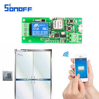 Sonoff DC 5V/DC 5V-32V Switch Wifi Self-lock/inching Mode Relay Module