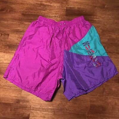 a86b4a442 Vintage Embroidered Umbro Soccer Athletic Shorts Fits Size Men's Small
