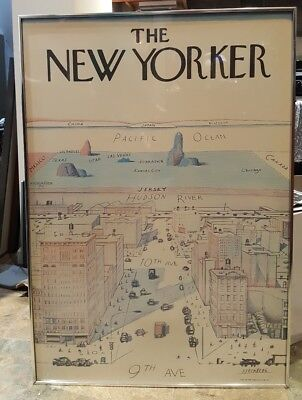 Saul STEINBERG The NEW YORKER 1976 Original Poster  9th 10th Ave