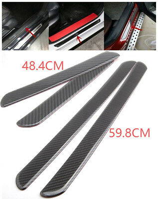 Car Scuff Plate Door Sill Cover Panel Step Protector Guard 48CM Carbon Fiber 2pc