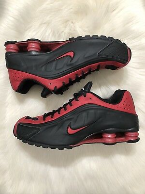a11f62c459e NIKE SHOX R4 Men s Size 11 Black Red Running Sneakers -  105.00 ...