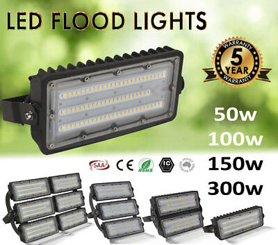 50W 100W 150W LED Flood Light Commercial Industrial Lights 240V High Low Bay