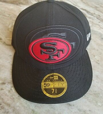 f8d97d0bc8b NEW ERA SAN Francisco 49ers Cap NFL 59FIFTY Low Profile 7 3 4 Fitted ...
