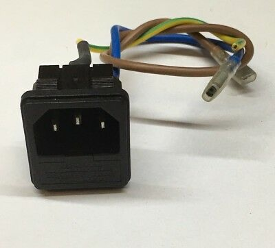 3 Pin IEC Chassis Plug (Inlet) with Fuse Holder 10A SNAP IN