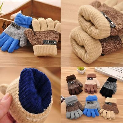 Full Finger Mittens Finger  Protector Knitted Gloves Winter Warm Gloves