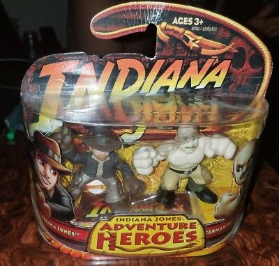 German Mechanic and Indiana Jones Adventure Heroes Hasbro