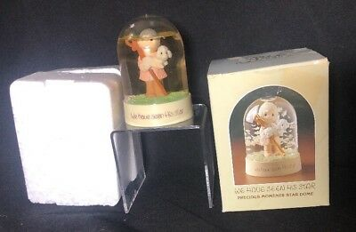 Vintage Precious Moments WE HAVE SEEN HIS STAR water snowglobe 1982 Boxed