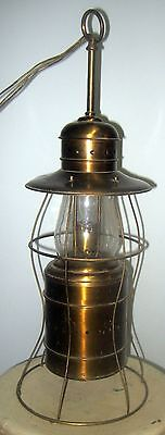 Antique Copper Table Lamp Porch Lamp Light Fixture Vtg Farm House Barn