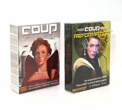 Coup Full English version basic game board game party cards Basic Or Reformatio