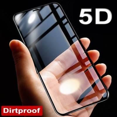 100% GENUINE Full Cover REAL Tempered Glass Screen Protector for iPhone X Black
