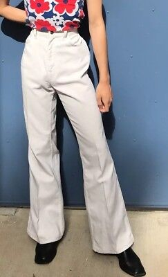 25x30 Vintage 70s Levis White Bell bottoms flare wide pants