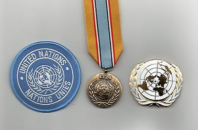 United Nations Medal For Angola  ,un Beret Badge And Sleeve Badge