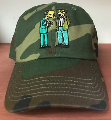 Camo Dad Hat With Mr Burns And Smithers Embroidered On Front fd5da2de9ca