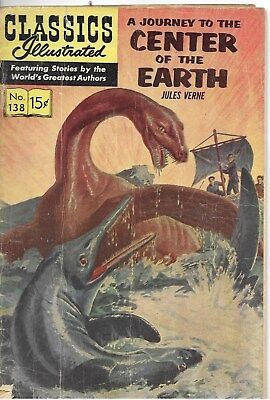 """Classics Illustrated #138  """"A Journey to the Center of the Earth"""" - May 1957"""
