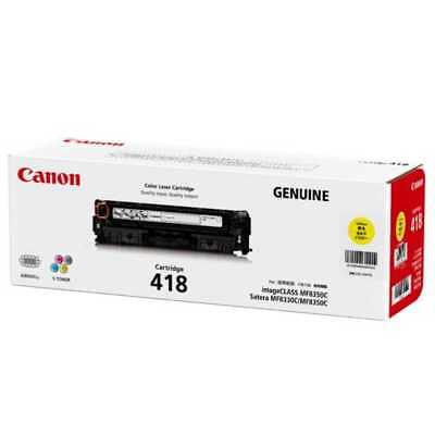 Genuine Yellow Cartridge For Canon Mf8350Cdn (Cart418Y)