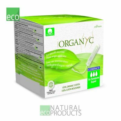 Organyc Compact Tampons with Applicator Organic Cotton Super 16 per pack