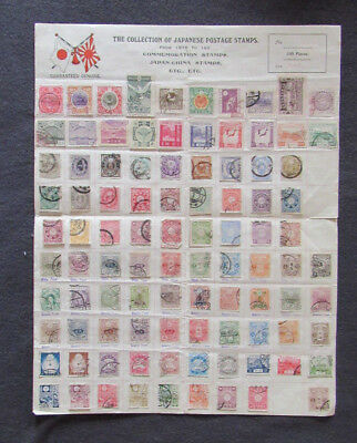 Japanese Postage Stamps 1876 to 192 Commemoration Stamps Japan-China Stamps