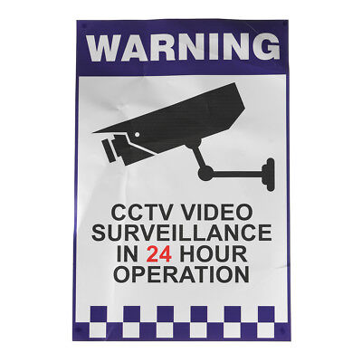 200x300mm Warning CCTV Security Surveillance Sticker Camera Rigid Plastic Sign