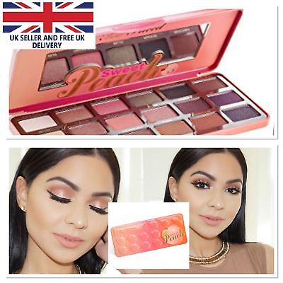 Hot Too Faced Sweet Peach Brand Makeup Bon Eyeshadow Palette Semi Shadow UK ❤️