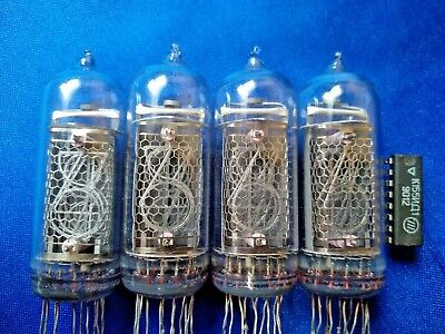 IN-14  NIXIE TUBES FOR CLOCK lightly used Tested 4PCS same date +k155id1