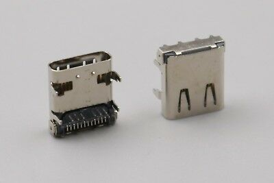 10Pcs Type C USB 3.1 High Speed Female Socket 24Pin PCB Mount Solder Connector