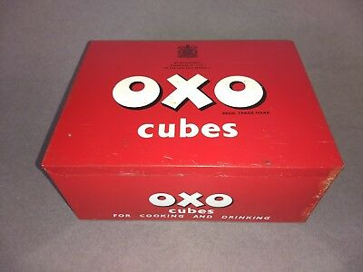 OXO Cube tin - Vintage large tin for 144 cubes
