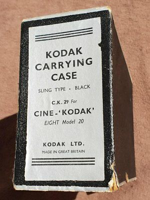Vintage ~ Kodak ~ Carrying Case ~ BOXED ~ Sling Type ~ Camera ~ Eight Model 20