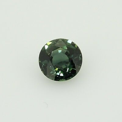 round bluish green sapphire unheated madagascar  0.54ct Genuine Loose Gemstones