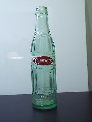 """Vintage Cheerwine 8 oz. Bottle """"It's Good Taste on all Occasions"""" 8.75"""" Tall"""